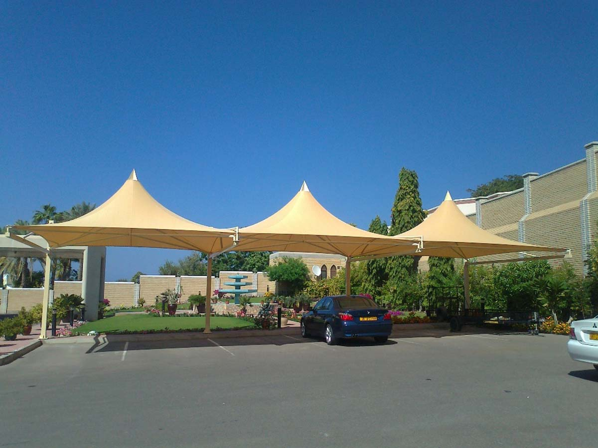 Pyramid Type Car Parking Sheds - Pyramid Design Car Parking Shades Canopies