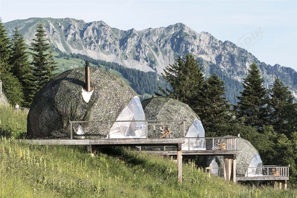 Swiss Eco friendly Domes Resort with 15 Geodesic Dome Tent Pods Lodges