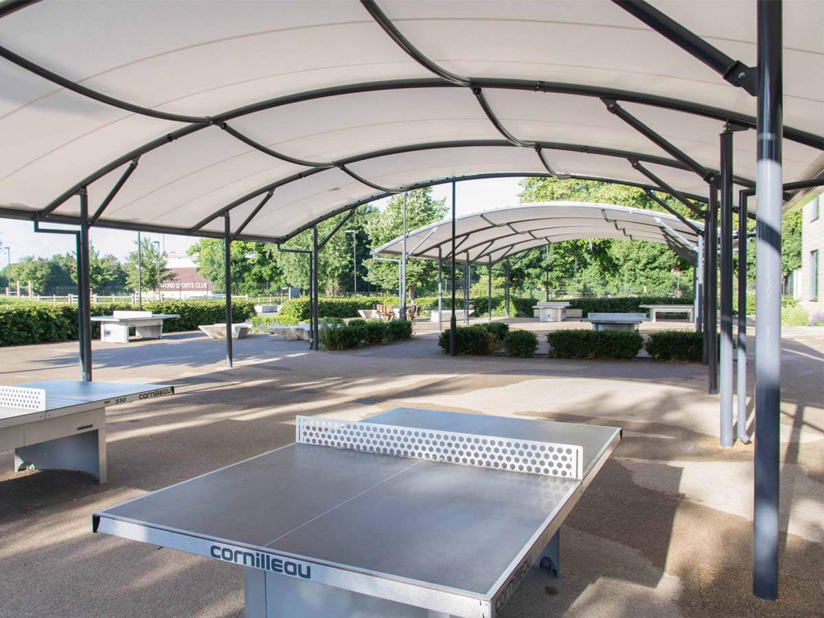 Table Tennis Court Canopy Covers - Build Health Club Shade Fabric Structures