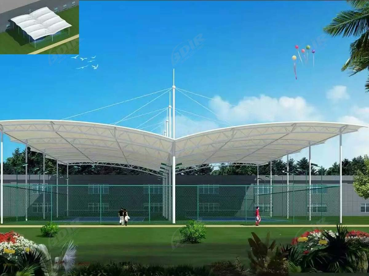 Tennis Court Shade Structures | Awnings Canopy for Indoor Tennis Construction