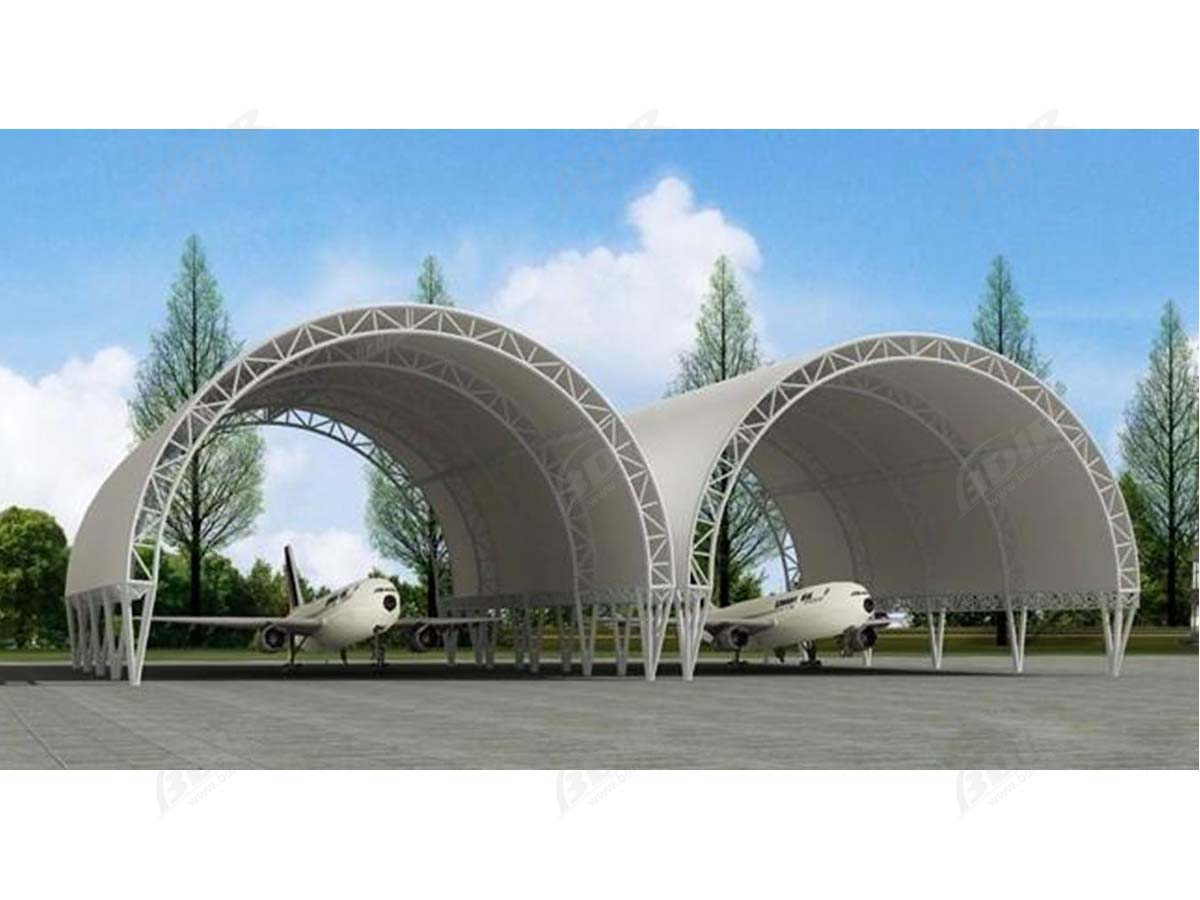 Tensile Fabric Structure for Military, Aviation, Aircraft Hangars, Helicopter Hangar