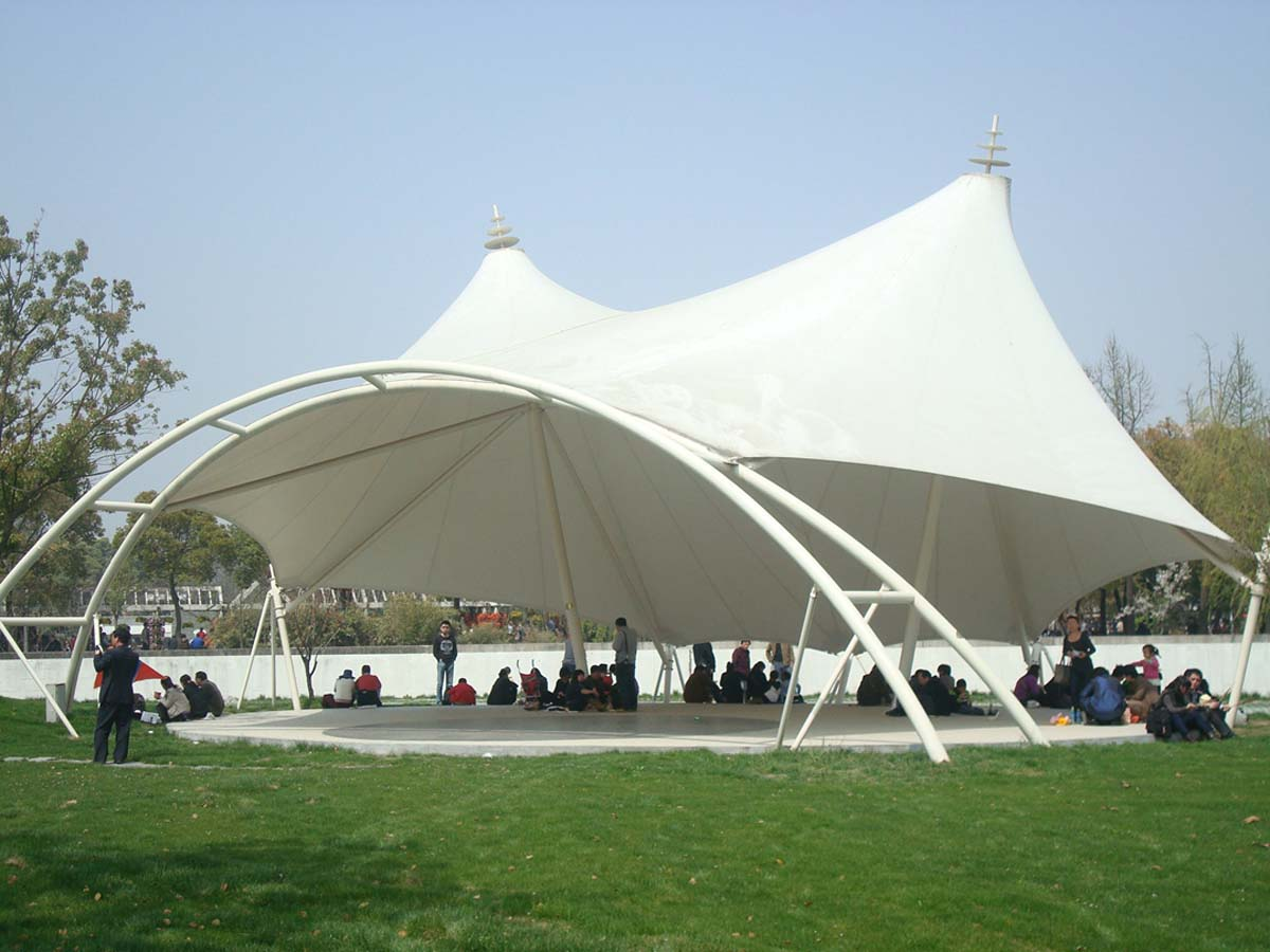 Tensile Structure for Public Spaces - PVDF / PTFE Architectural Membrane Structure