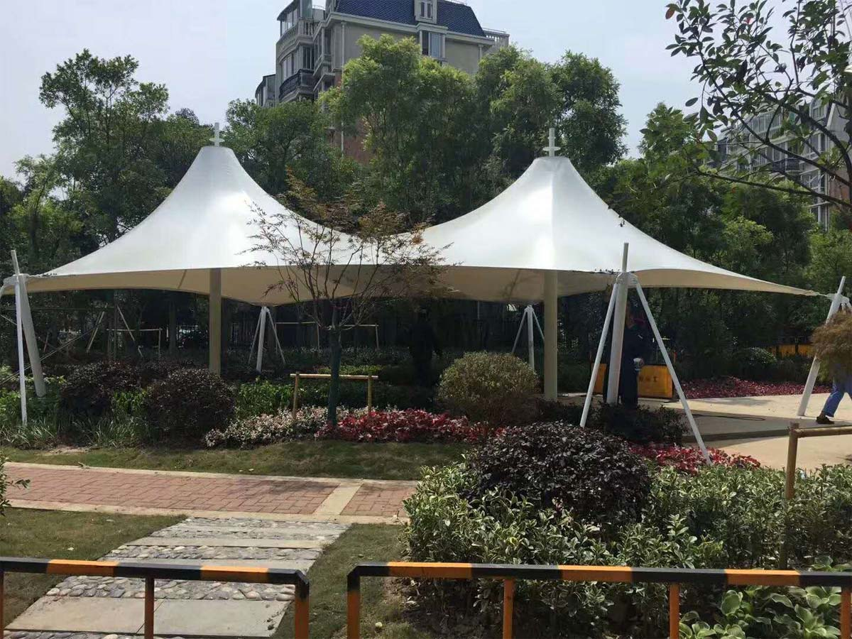 Tensile Roof Structure for Gardens Shade, Landscaping, Gardening