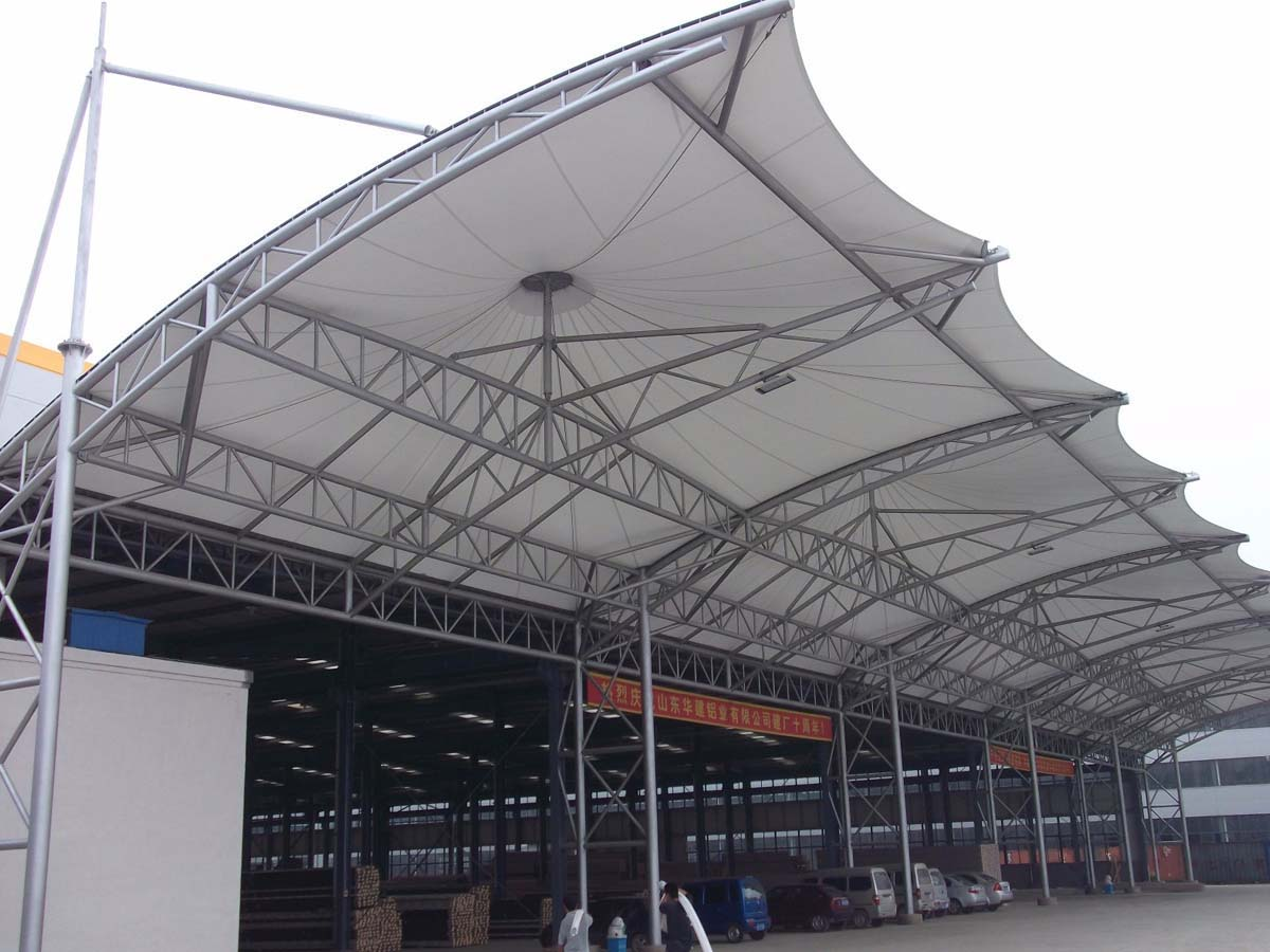 Tensile Structure for Industrial Factory Warehouse Entrance, Storage Roof
