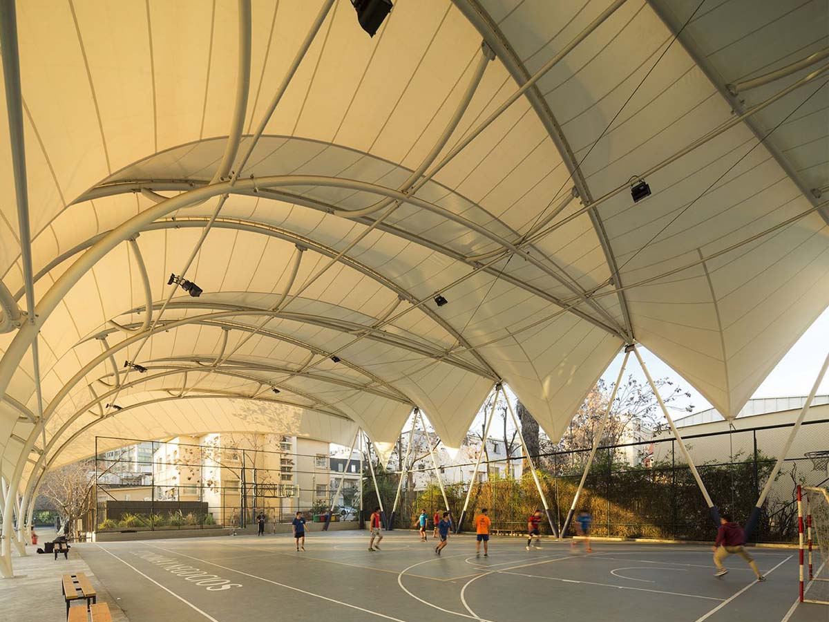 Tensile Structure for Multipurpose Sports Court, Football, Rugby, Cricket