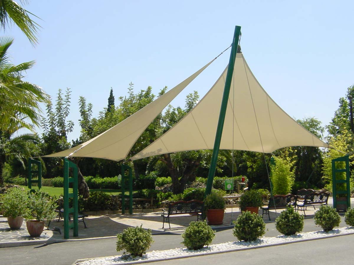 Tensile Structure for Urban Park Pavilion - PVC Coated Architectural Membrane Structure