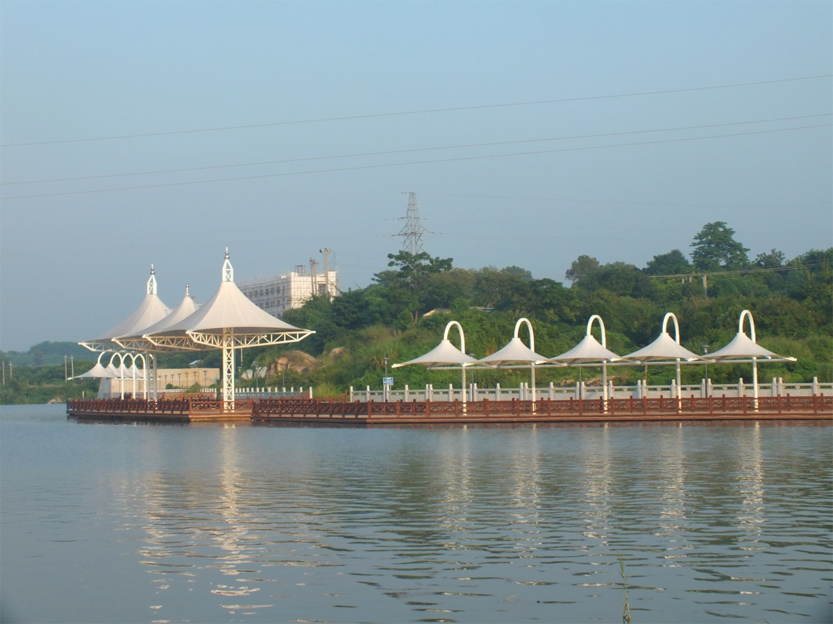 Customize Tensile Structure in Coastal Areas, Riverfront Park, Seaside, Island