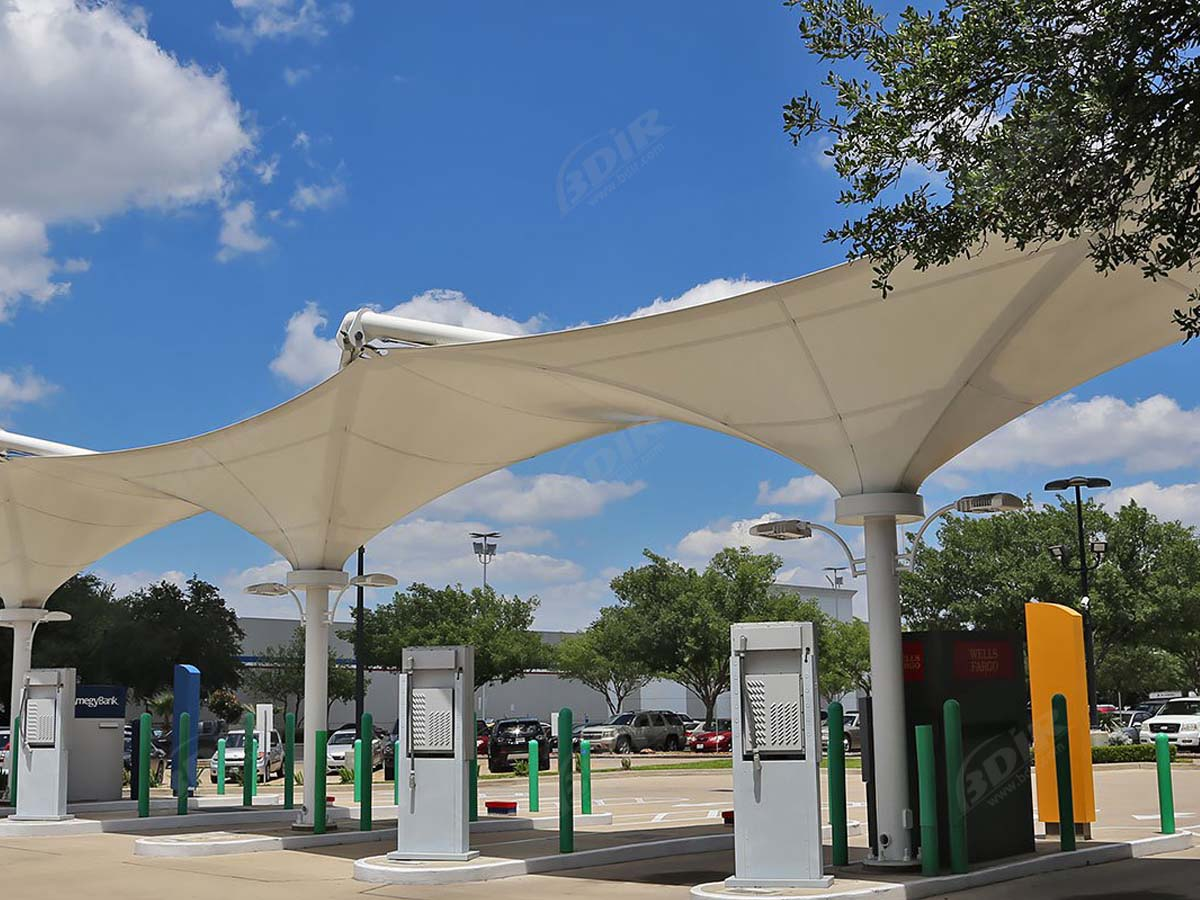 Customize Tensile Structures for Atm Bank - PVDF/ PTFE Fabric Canopies Roofs