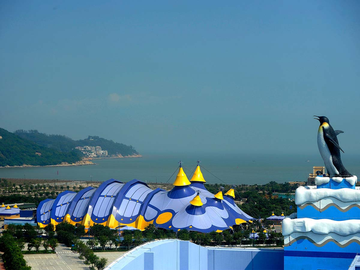Tensile Structure for Acrobatics Pavilion, Big Top Circus Fabric Canopy