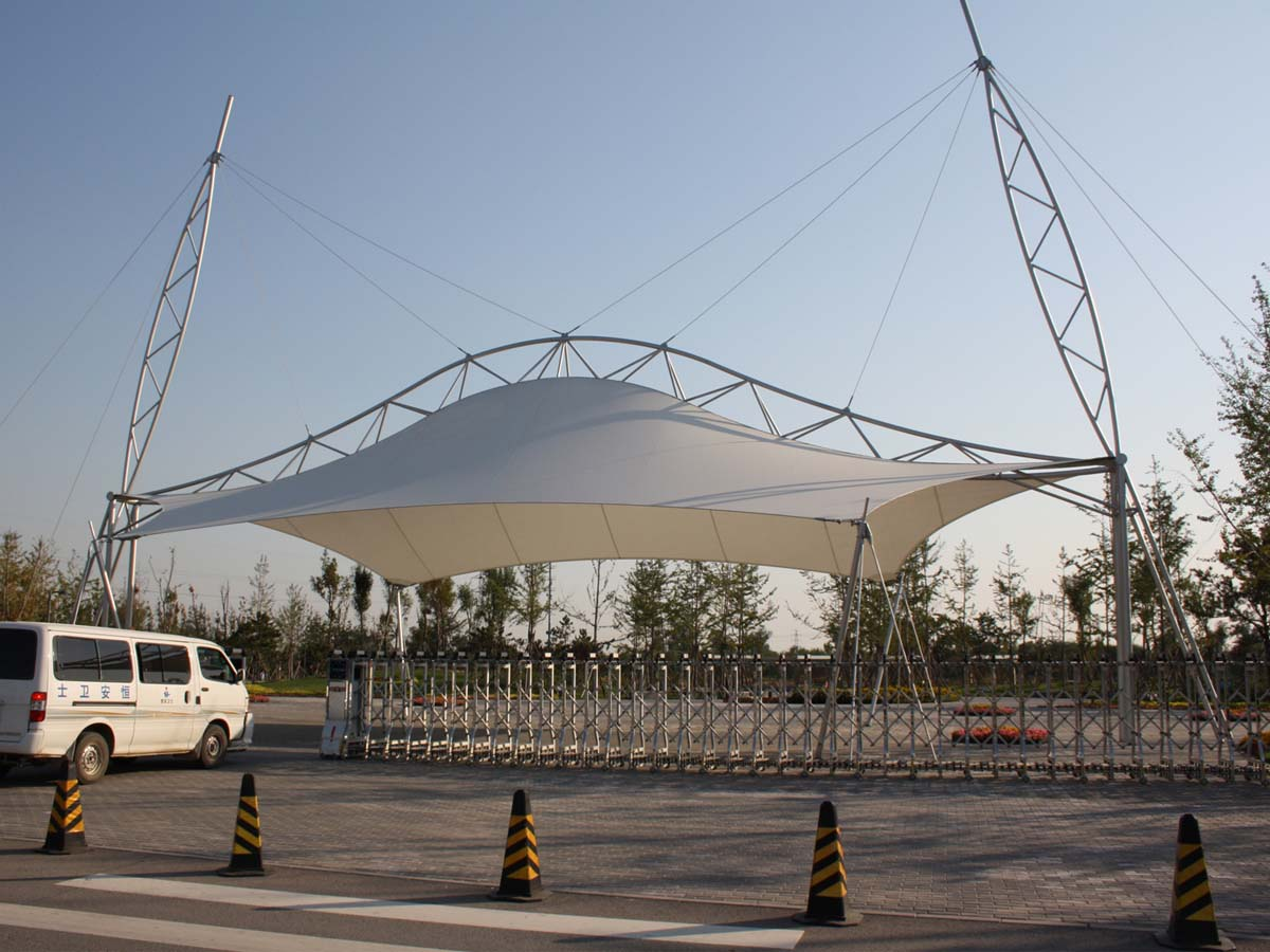Tensile Structures for Entrance Gate - Covered Entryways Canopies, Shades, Roof