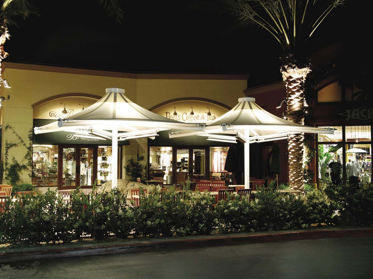 Customize Tensile Structures for Cafes - Coffee Shop & House Canopies, Awnings, Shelters