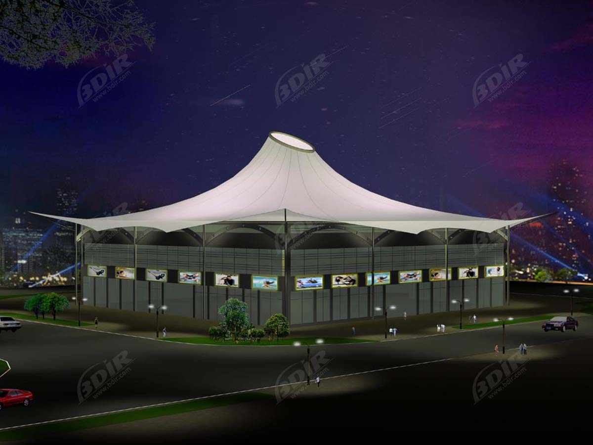 Tensile Structures for Cultural Center Pavilion, Libraries, Theater, Arts Centre