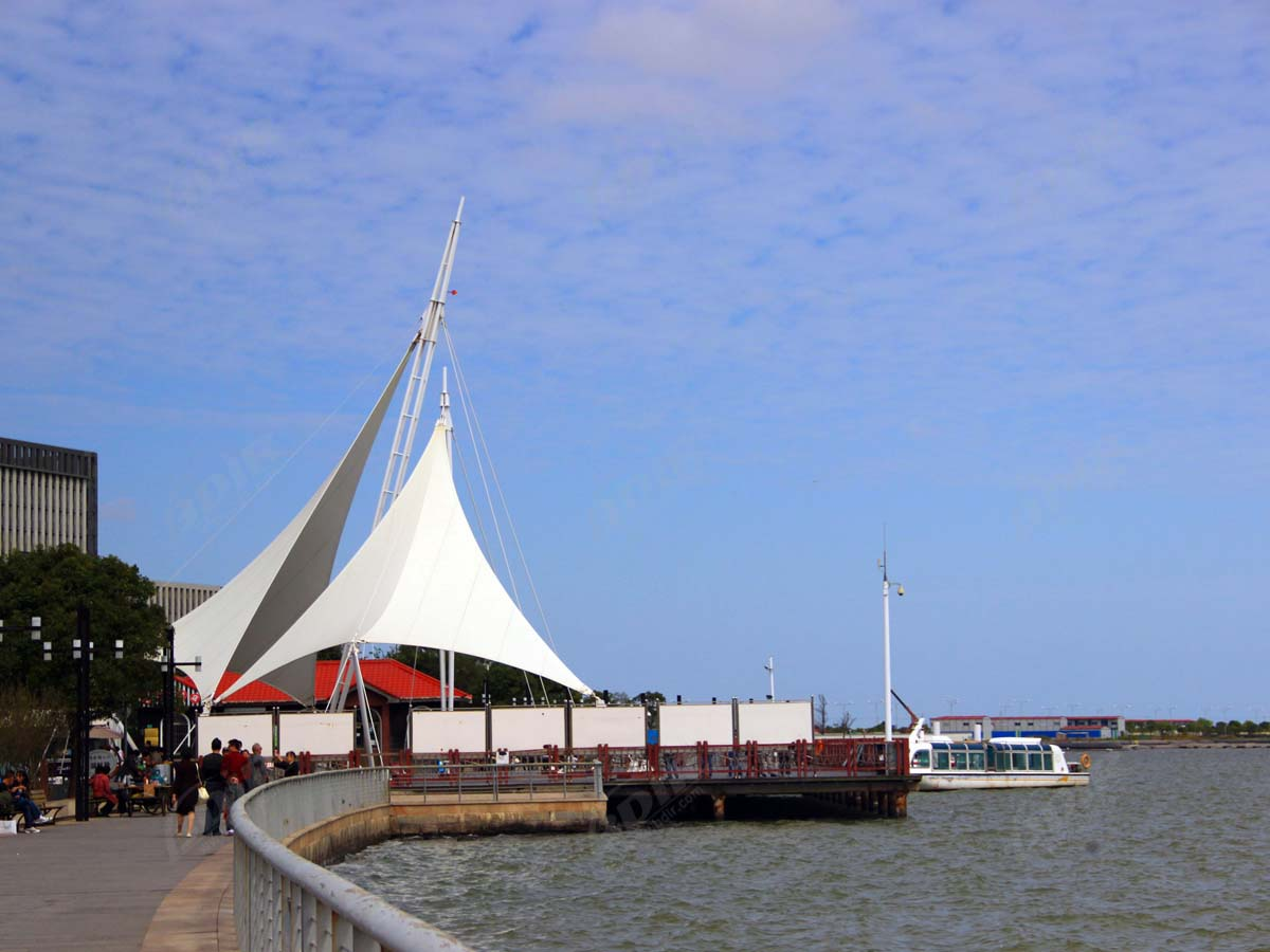 Tensile Structures for Ferry Terminal, Pier, Waterfront Marina, Port and Harbor