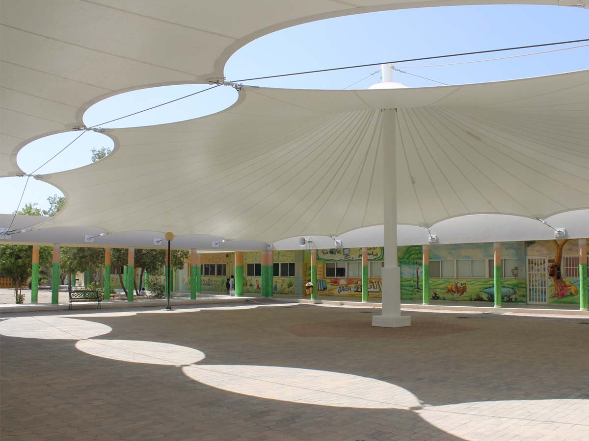 Tensile Structures for Kindergarten School - Fabric Cover, Roof, Canopy