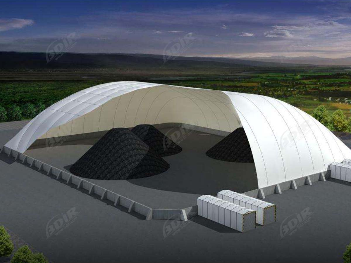 Design Tensile Structures for Mining, Coal Storage Sheds, Coal Bulk Storage