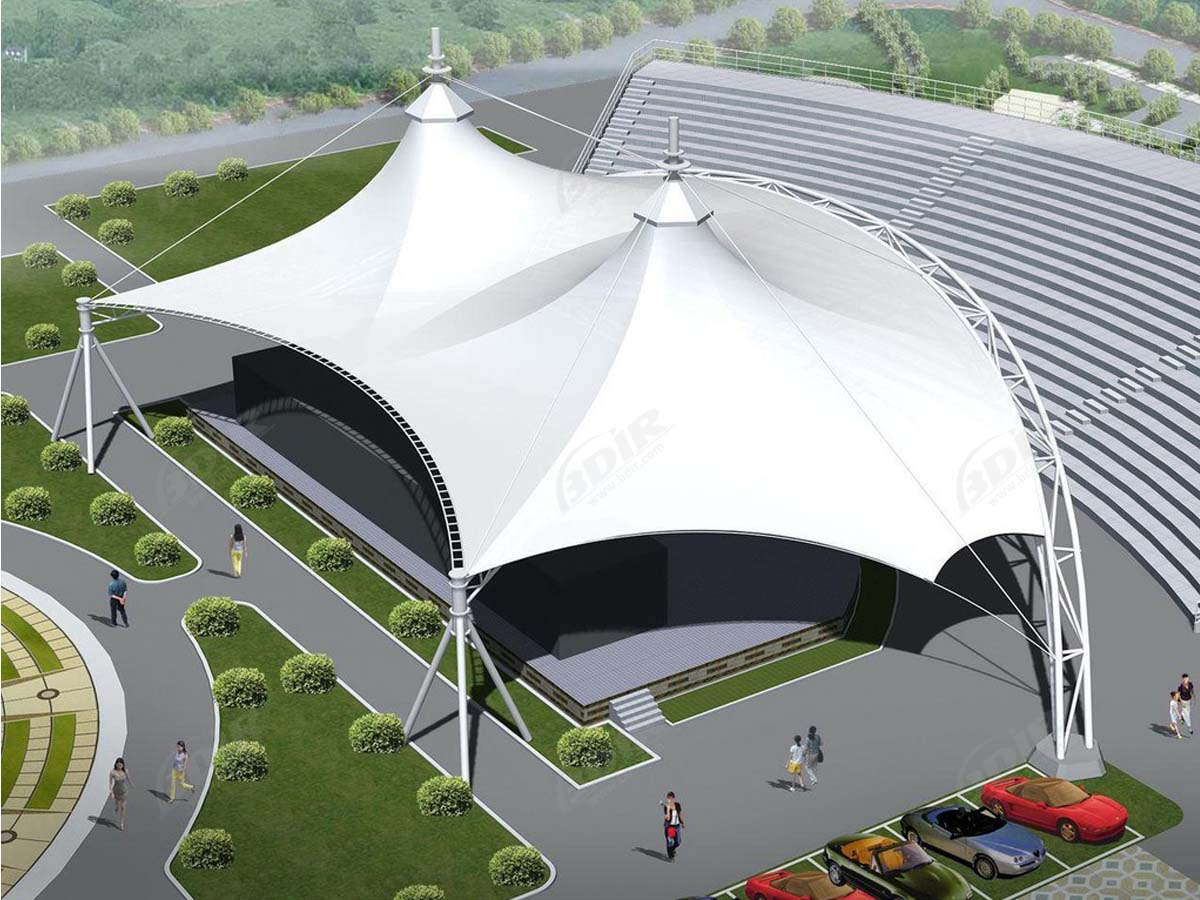 Tensile Structures for Music Pavilion Venue, Concert Stadium, Outdoor Events