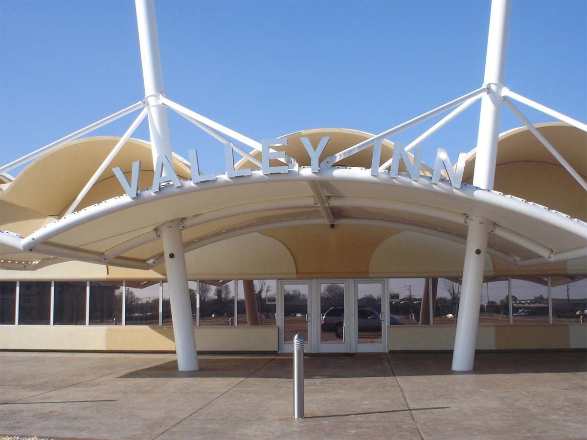 Tensile Structures for Outlet Store - Commercial Awnings, Canopies, Shade