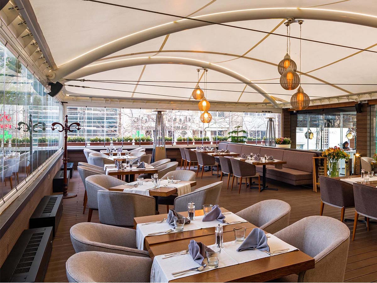 Tensile Structures for Restaurant | Open Air Food Court Canopies, Shades, Roof