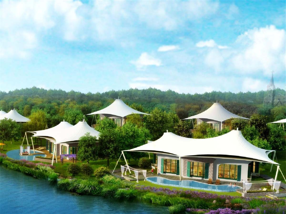 Luxury Tent Hotel, Jungle Tented Resort, Eco Glamping Lodges - Principe Island