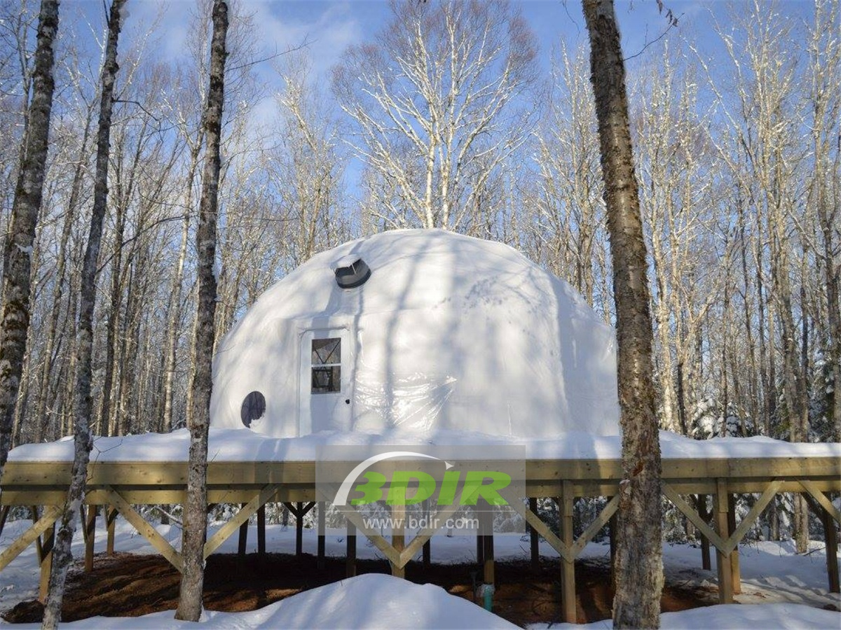 Luxury Spherical Dome Pod, Comforts Wild Camping Tented Accommodation