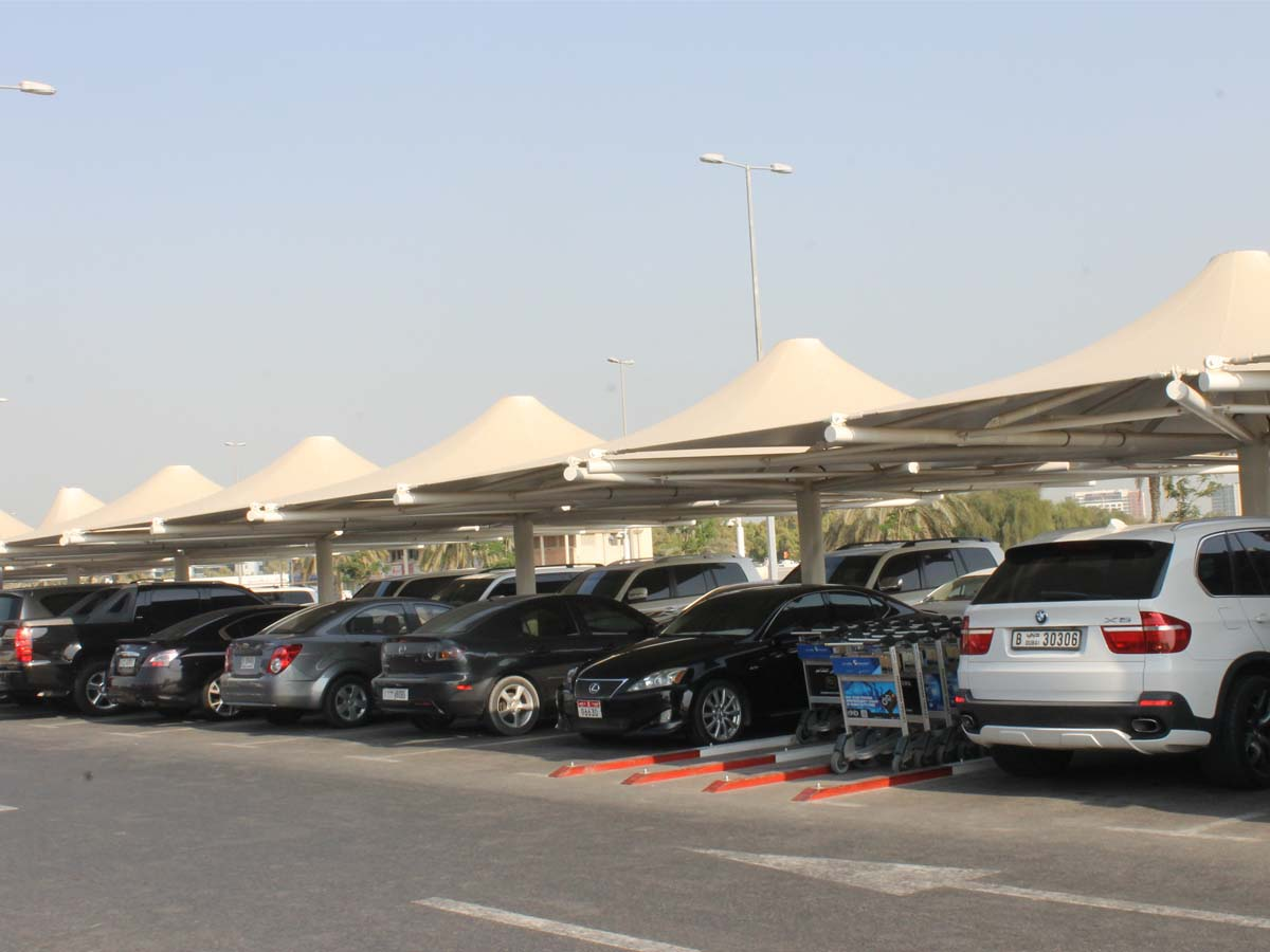 Umbrella Type Car Parking Sheds - Single Pole Car Parking Shades Shelter