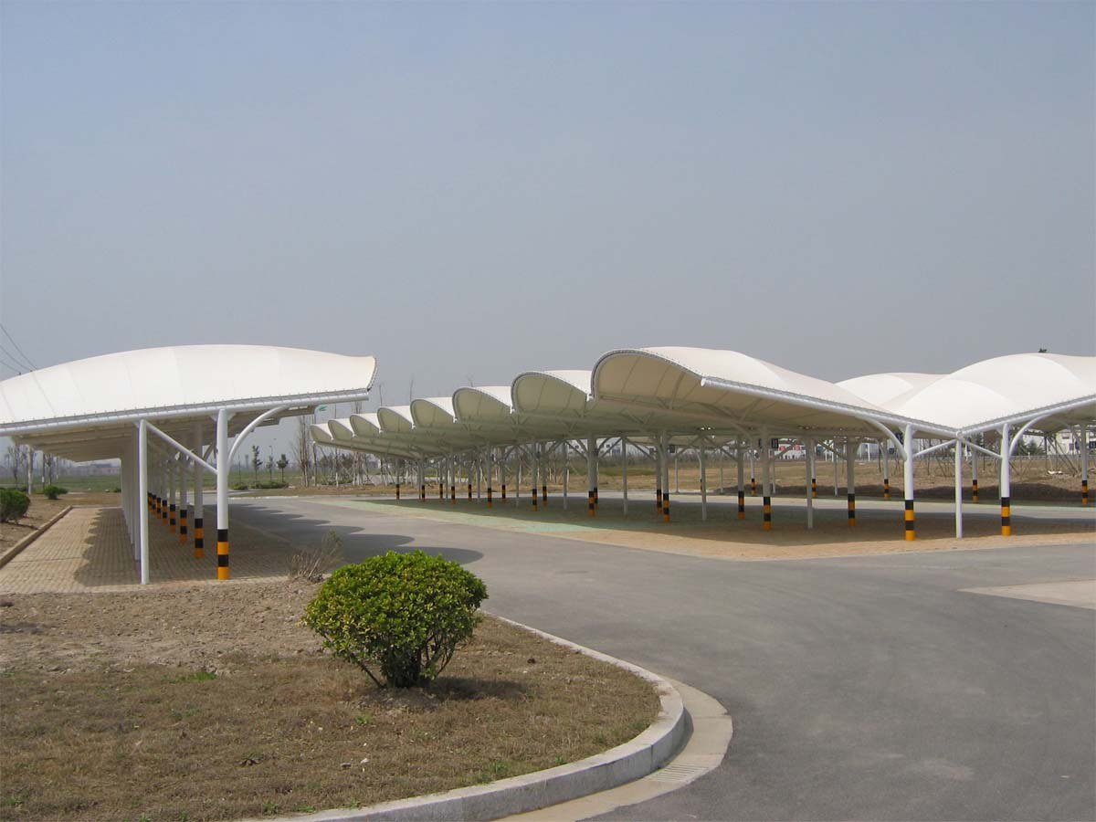 Wave Type Car Parking Sheds - Wave Design Car Parking Shades Structures