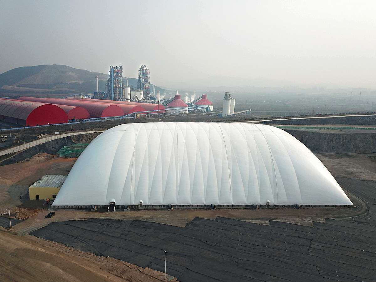 Air Domes, Air Bubbles, Inflatable Structures for Environment, Soil Remediation & Sewage Cover