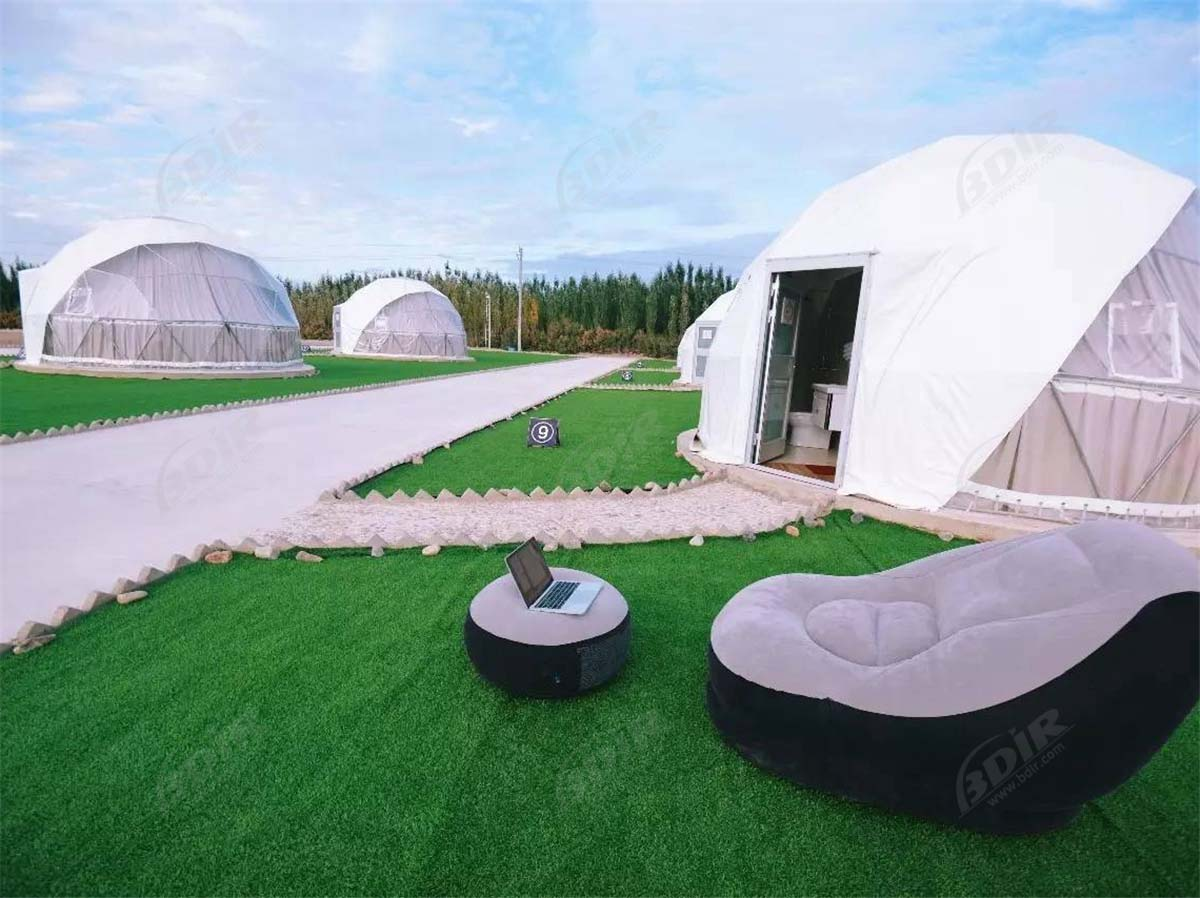 Luxury Dome Tent Lodges, Luxurious Red Desert Eco Dome Camping Site