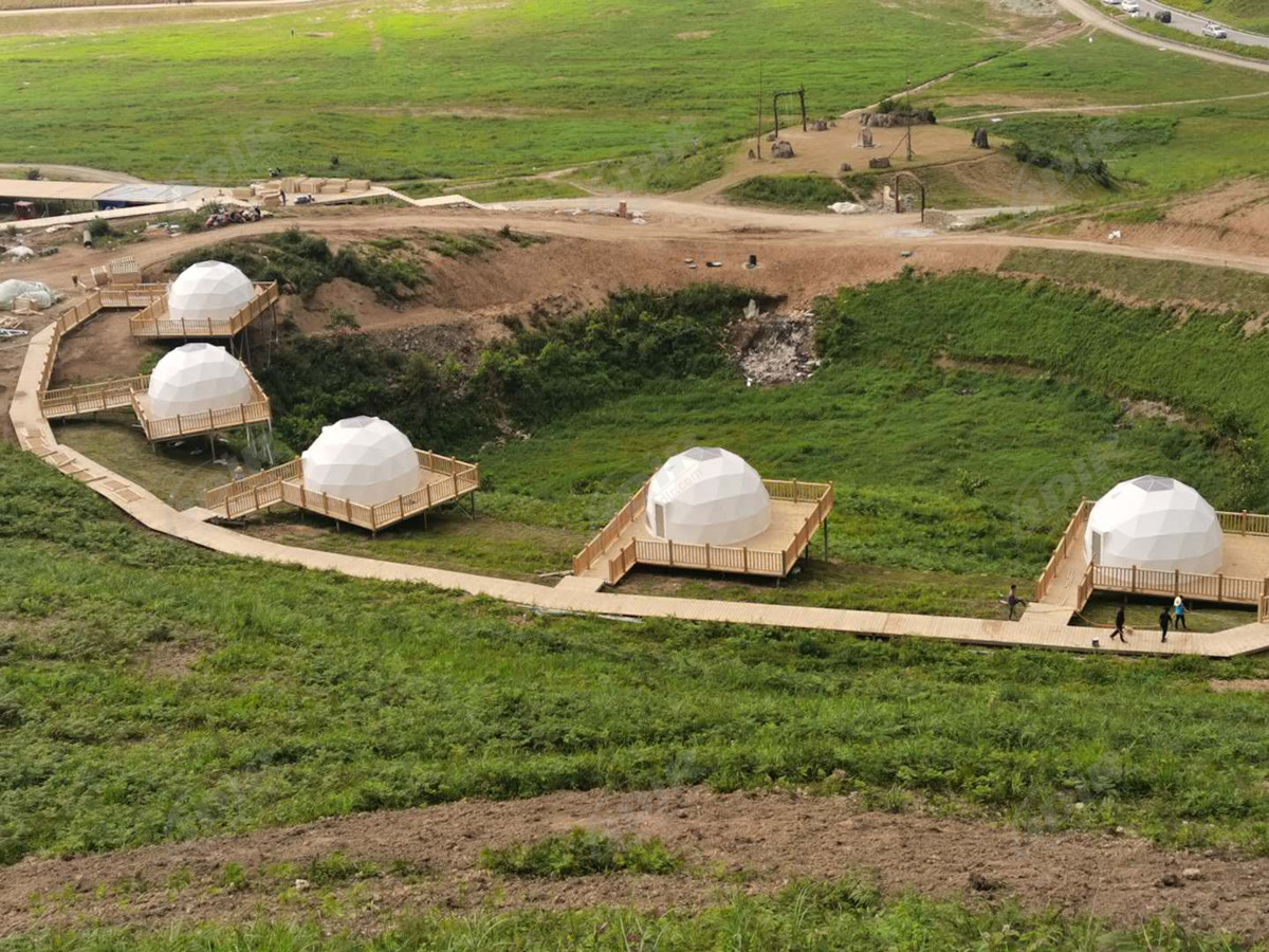 12 Pcs Eco Geodesic Living Homes | Sustainable Domes Accommodation - Hunan,China