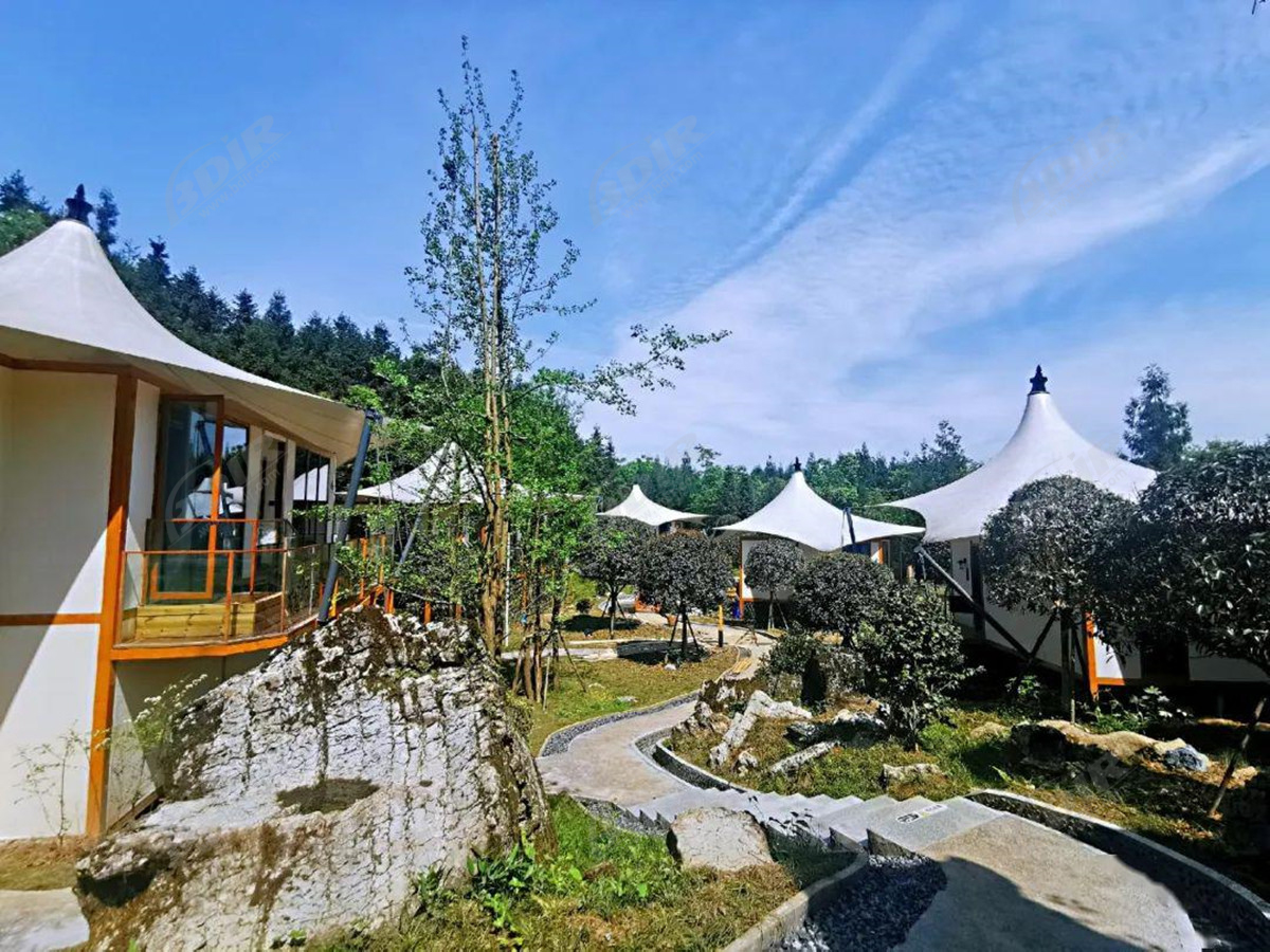 19 Pcs Luxury Eco House Resorts | Beach Camping Shelter - Chengdu, China