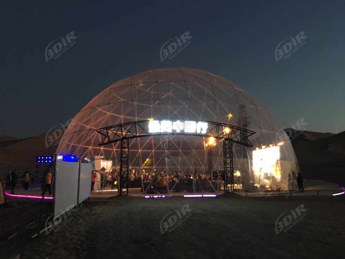 25M Transparent Outdoor Commercial Event Tent Structures - Dunhuang, Gansu