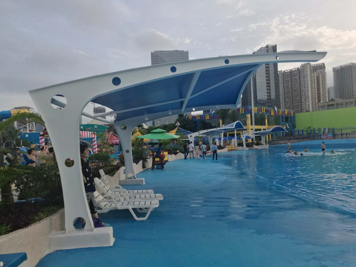 Растяжимая конструкция аквапарка Seaworld Aquatica - Сямынь, Китай