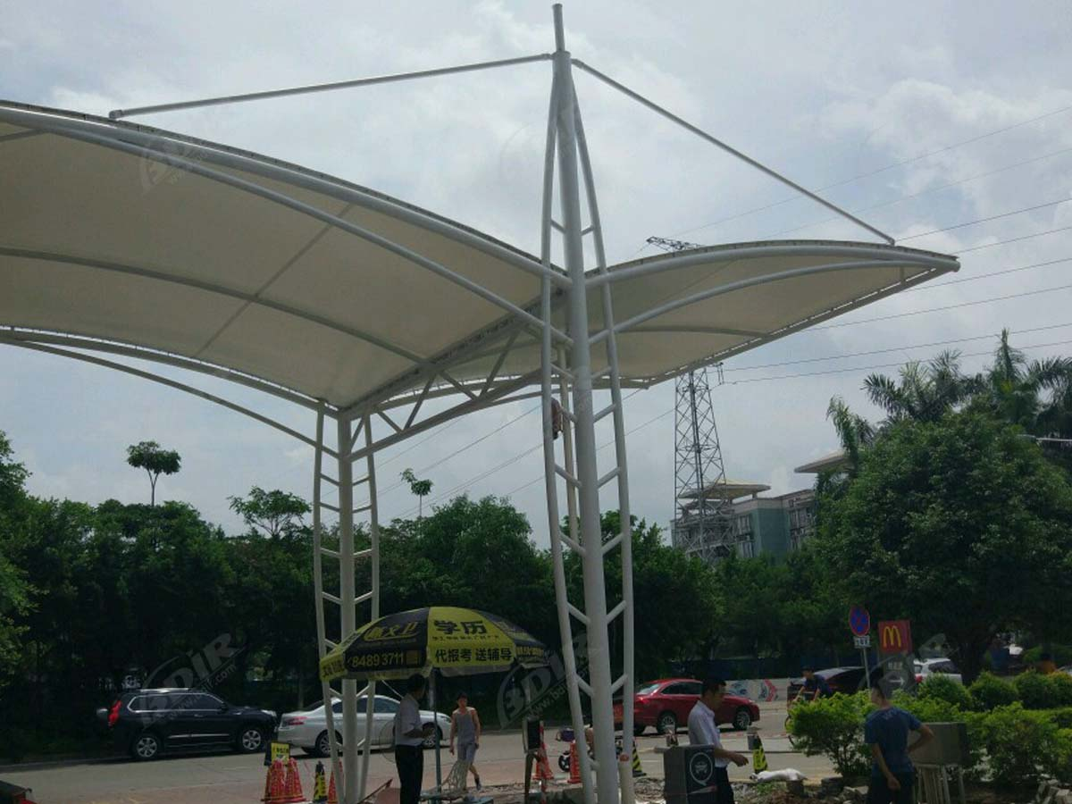 Mountain and Sea Entrance & Gate Tensile Canopy Structure - Shenzhen, China