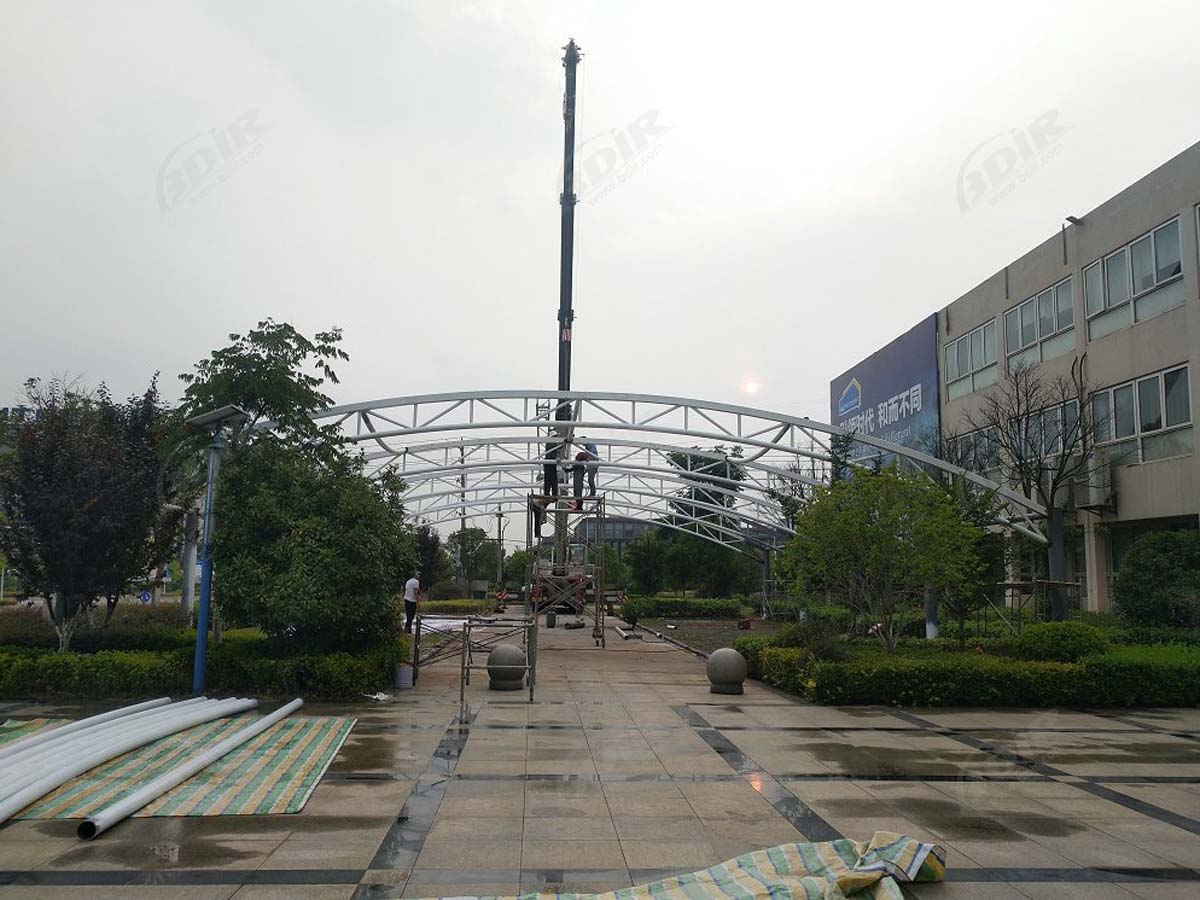Car Parking Shade, Sheds, Canopies for Manufacturing District - Heyuan, China