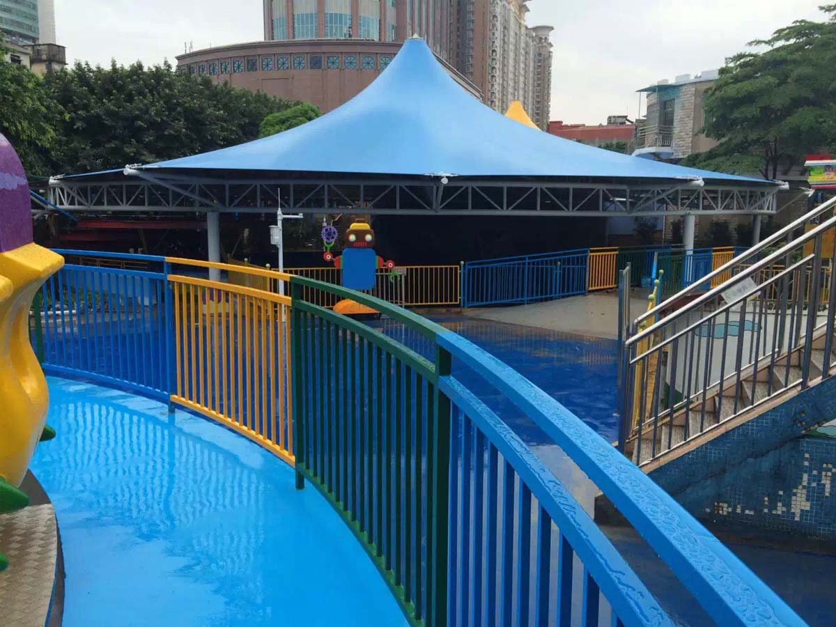 Children's Park Tensile Roof Structure, Playground Canopy - Guangzhou, China
