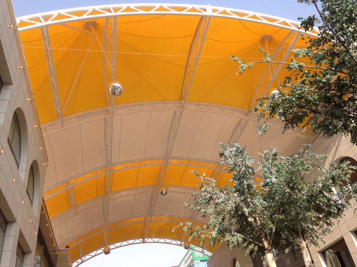 Commercial Street & Walkway Tensile Canopy Structure - Lanzhou, China