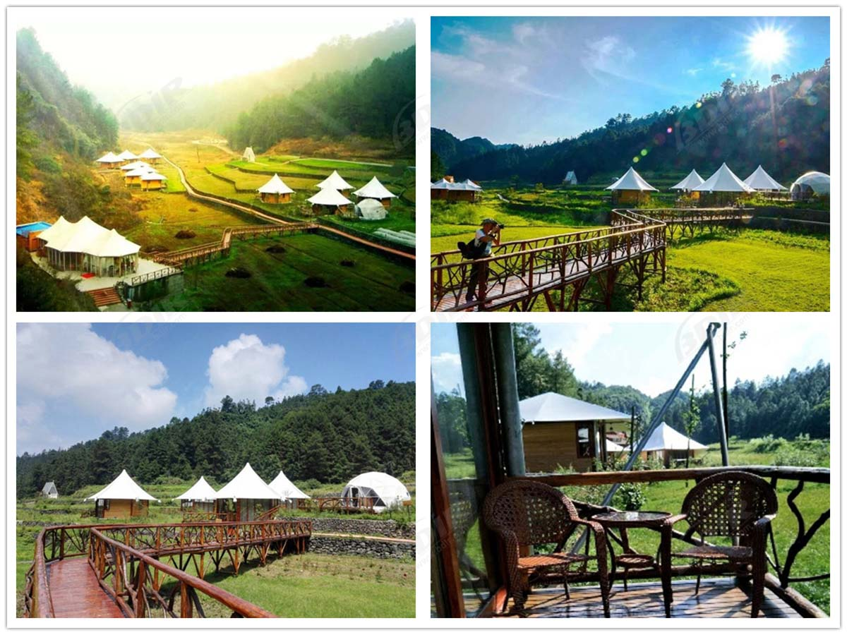 Design Luxury Tent Camping Resorts, Glamping Tented Cabins Supplier - Chongqing, China