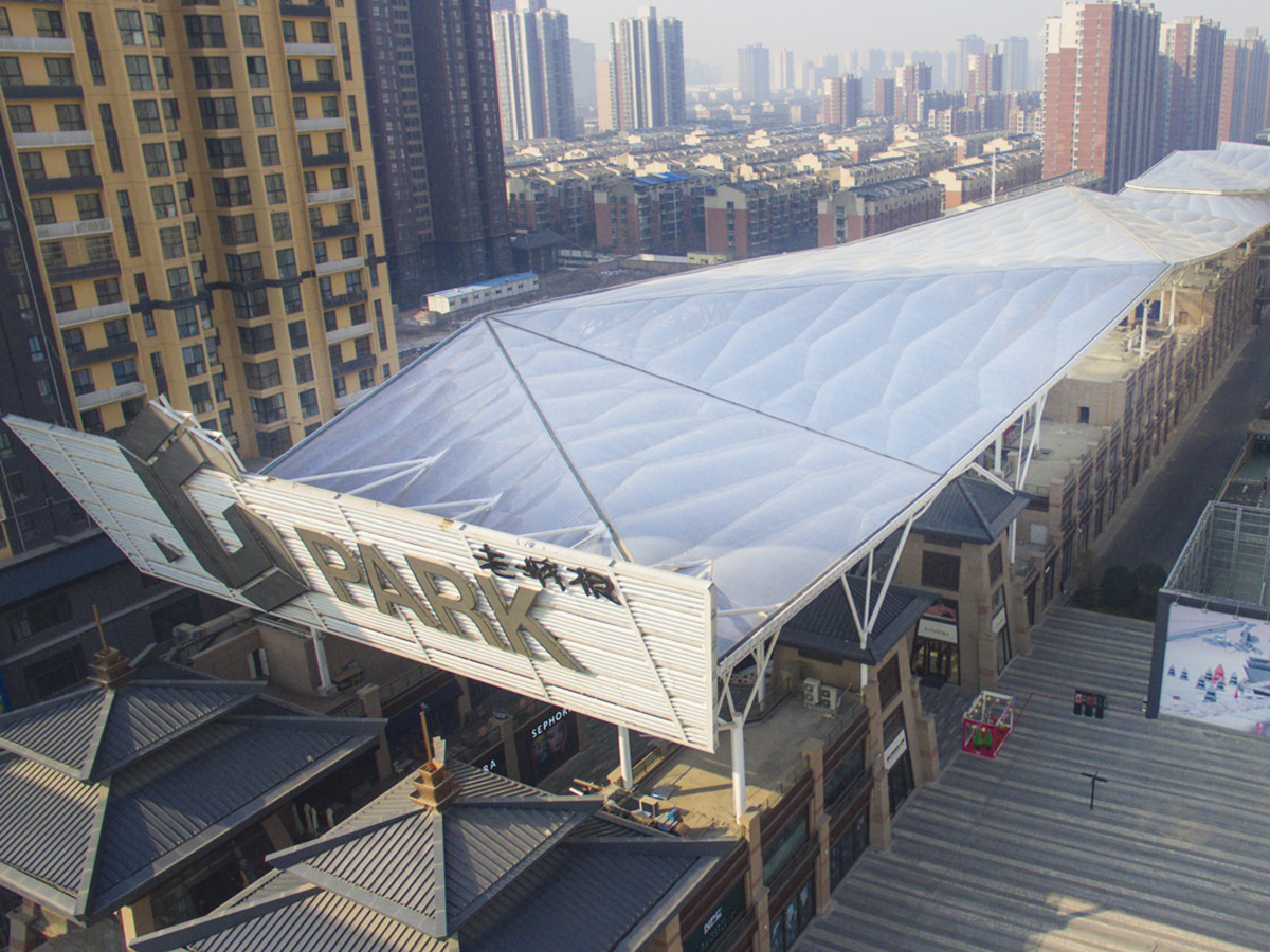 ETFE Pillow Cushion for G-Park Business Center | The Largest Inflatable ETFE Membrane Canopy in the West Of China