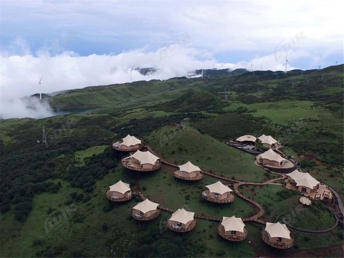 Eco Friendly Tents House for Prairie Sustainable Resort Accommodation - Guizhou, China