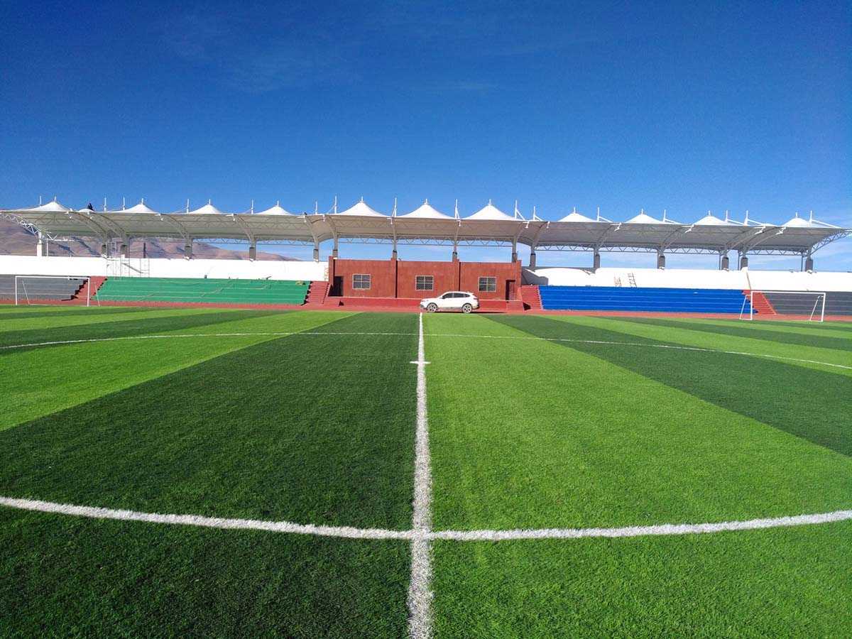 PVDF Fabric Tensile Structure for Naqu Middle School Playground Grandstand - Tibet, China