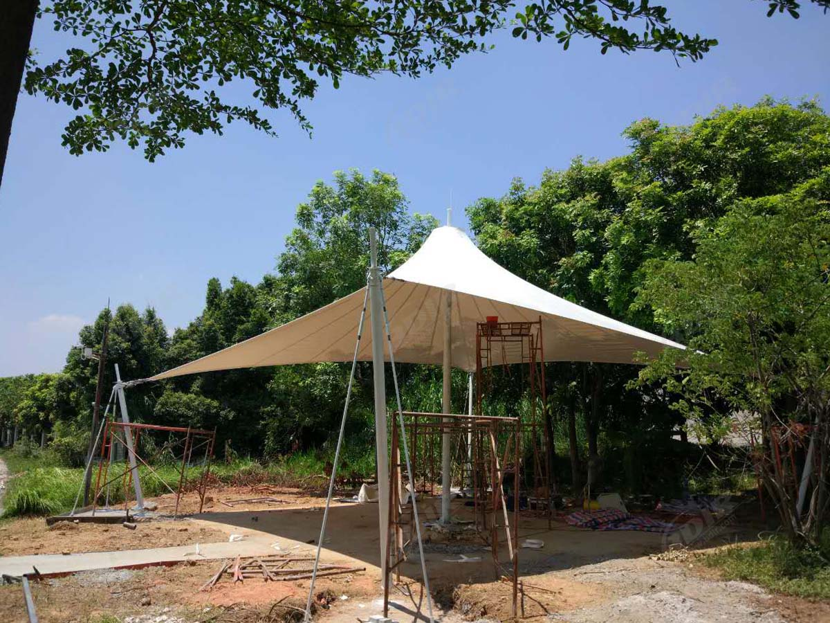 PVDF Fabric Tensile Structure for Outdoor Gardens & Parks - Suzhou, China