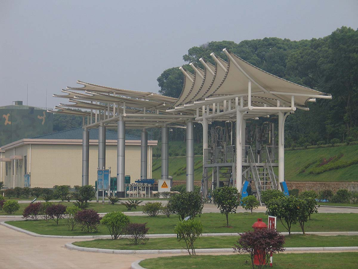 PVDF Fabric Tensile Structure for Training Center & Fitness Area - Chendu, China