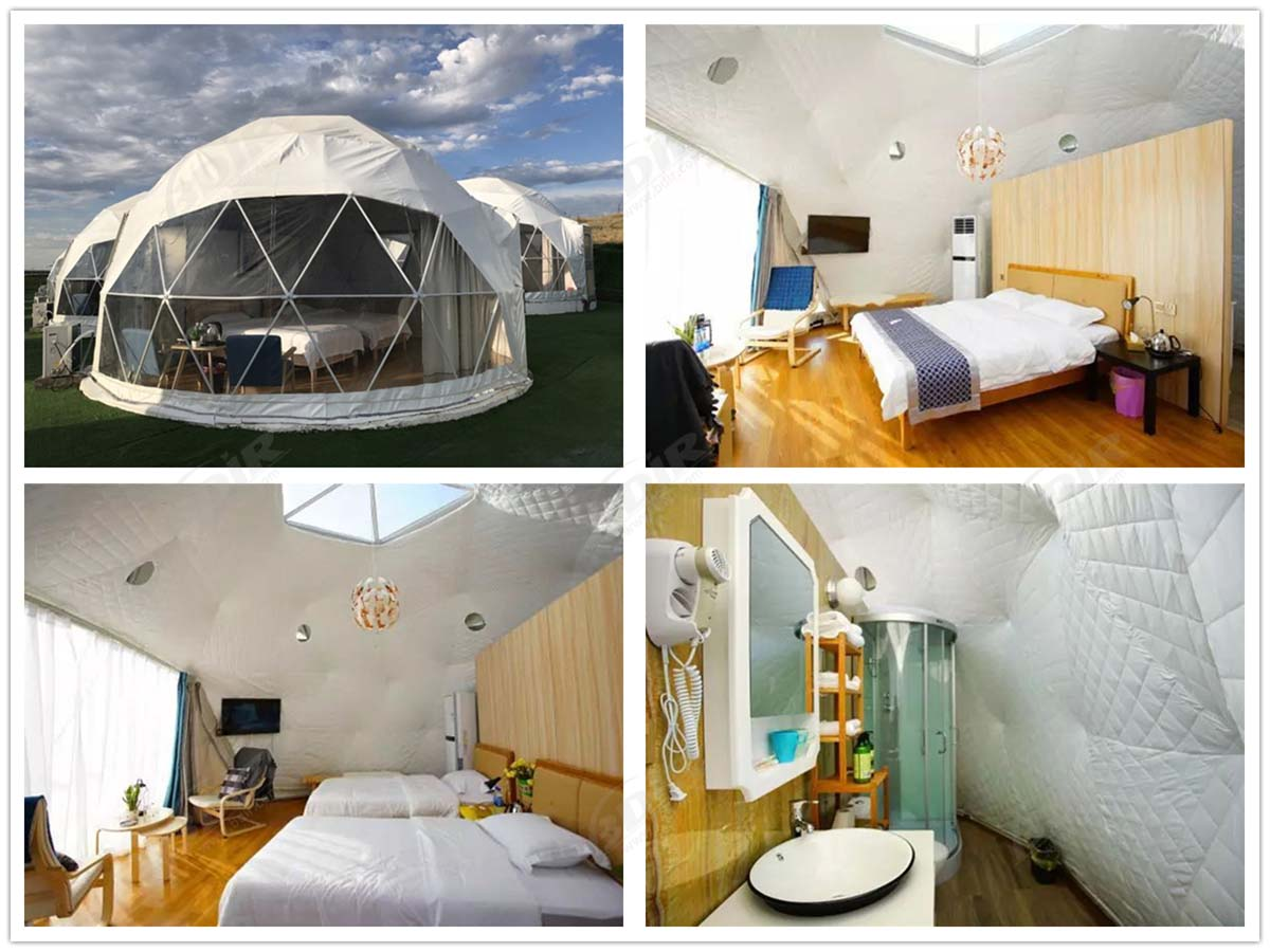 Geodesic Dome Tent Hotel, Eco Domes Lodges for The Prairie Camping Site