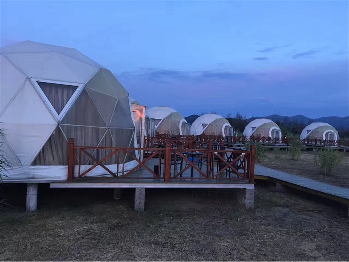 Geodesic Dome Tent Villa is Designed and Built for Island Beach Resort