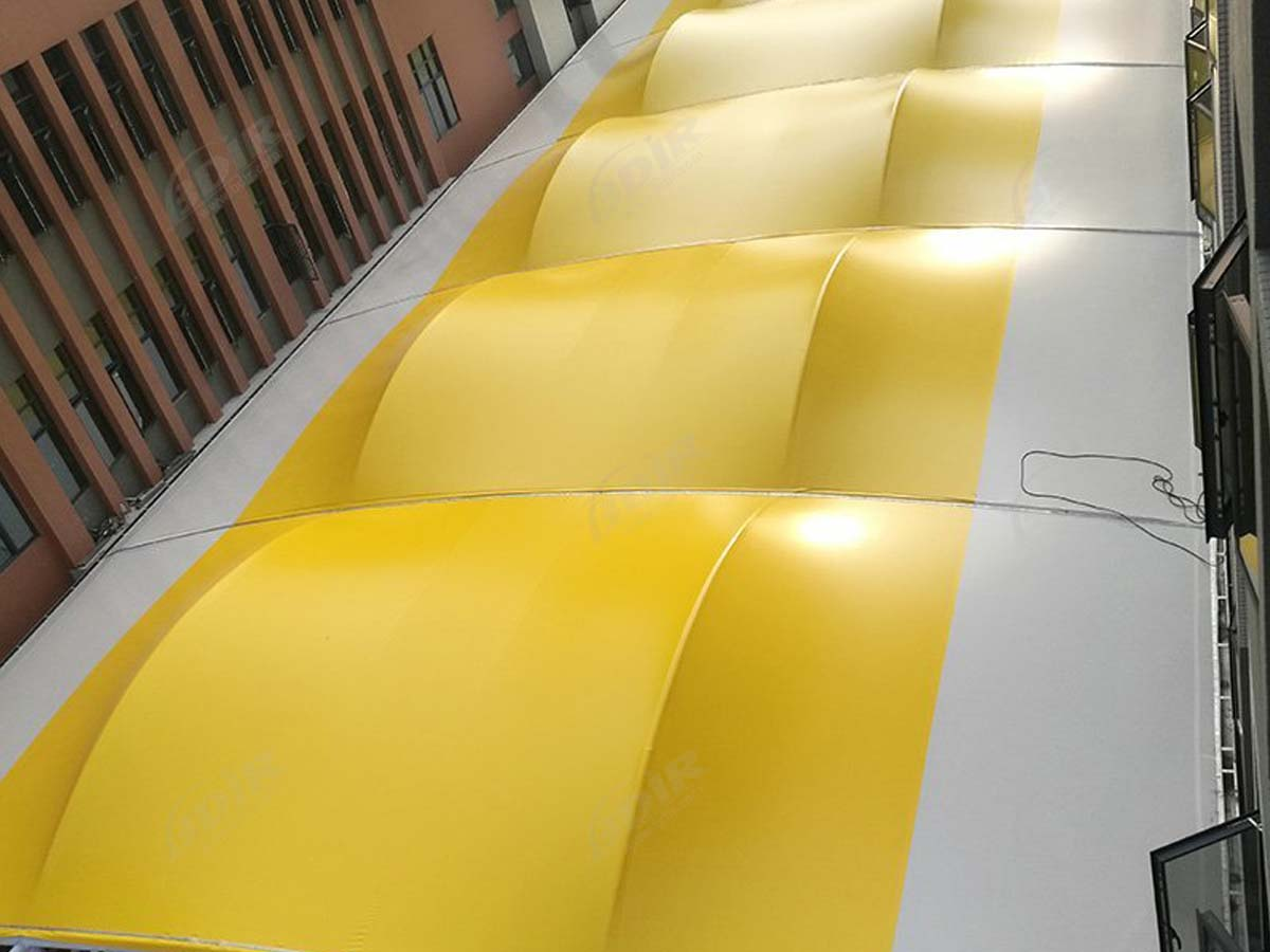 Huang Gang Middle School Tensile Fabric Structure for Walkways - Guangzhou, China
