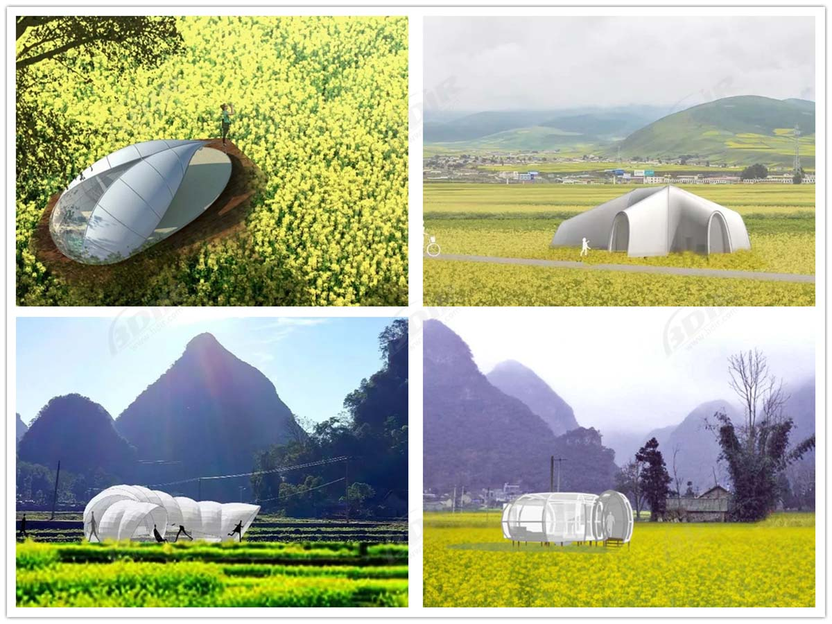 Lightweight Fabric Architectures, Luxury Glamping Tent Cottages Camp - Guizhou, China