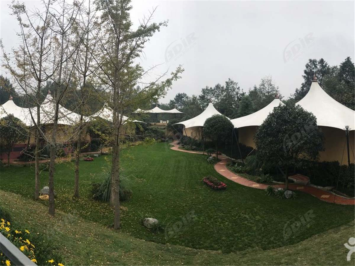 Luxury Outdoor Tents Hotel with PVDF Textile Structures Roof Lodges - Chengdu, China
