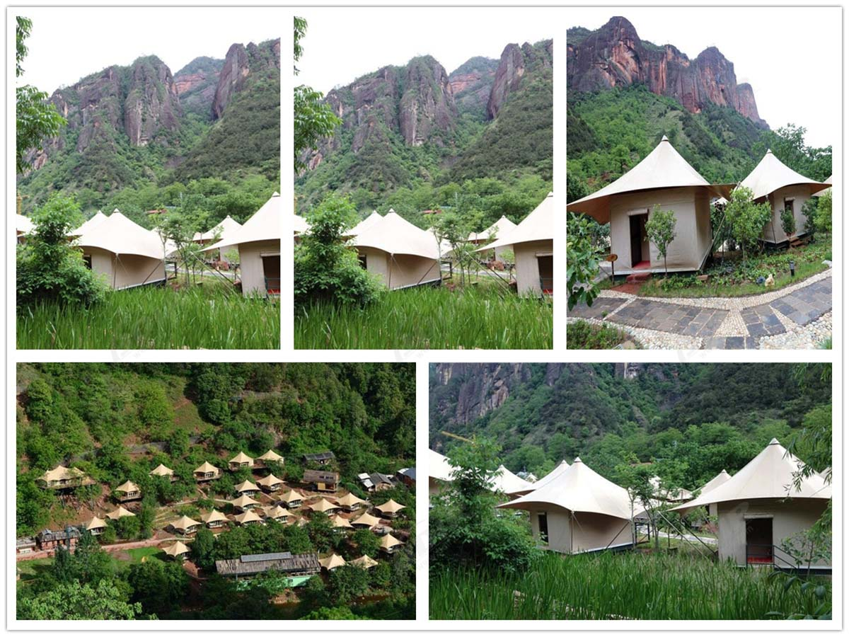 Luxury Tent Hotel Resort, Eco Friendly Fabric Structures Tented Lodges - Lijiang, Yunnan, China