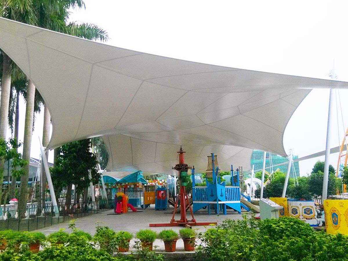 Million Sunflower Garden Tensile Canopy Structures - Nansha, China