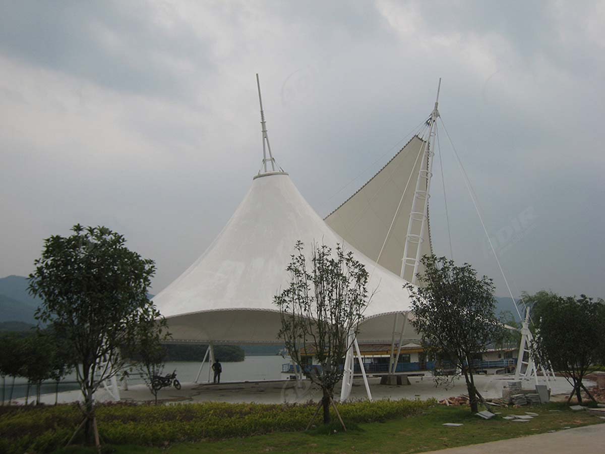 Moon Bay Plaza Hypar & Conical Tensile Structure - Shenzhen, China